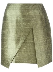 Romeo Gigli Vintage Mini Wrap Skirt Green