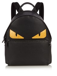 Fendi Bag Bugs Leather Backpack Black Multi