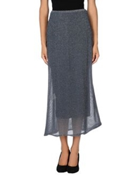 Almeria Long Skirts Dove Grey