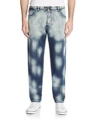 Cult Of Individuality Straight Leg Denim Joggers Blue