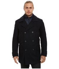 Marc New York Mulberry Pressed Wool Peacoat W Removable Quilted Bib Ink Men's Coat Navy