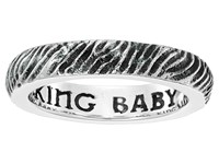 King Baby Studio Slashed Texture Stackable Ring Silver Ring