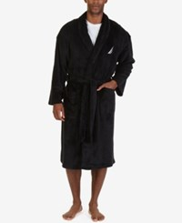 Nautica Men's Essential Plush Robe True Black