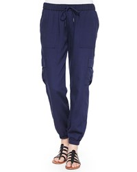 Joie Markell Cargo Pocket Jogger Pants Dark Navy