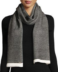 Cole Haan Marled Thermal Scarf Ivory Blac