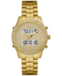 Guess Women's Analog Digital Gold Tone Stainless Steel Bracelet Watch 38Mm U0817l2 A Macy's Exclusive Style