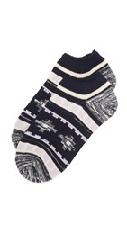 Madewell Rustic Pattern Anklet Socks Navy