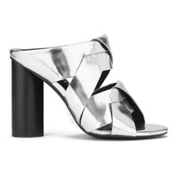 Senso Women's Xanthe Ii Chrome Strappy Mule Sandals Silver