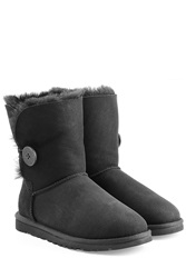 Ugg Australia Bailey Button Suede Boots Black