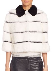 Red Valentino Rabbit Fur Cropped Jacket
