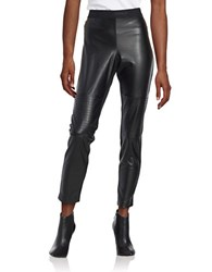 Karl Lagerfeld Leatherette Textured Leggings Black