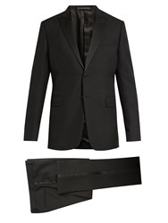 Valentino Satin Trimmed Wool And Mohair Blend Tuxedo Black