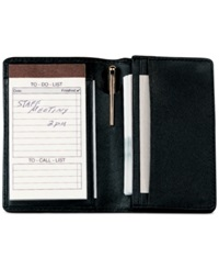 Royce Leather Deluxe Note Jotter Organizer Black