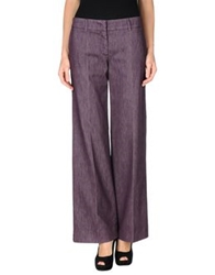 Incotex Denim Pants Deep Purple