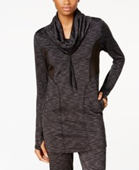Soybu Traverse Space Dyed Cowl Neck Tunic Black