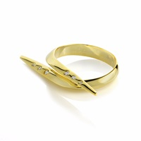 Sonal Bhaskaran Zhaikya Gold Studded Spike Ring