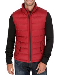 Lucky Brand Puffer Vest Red