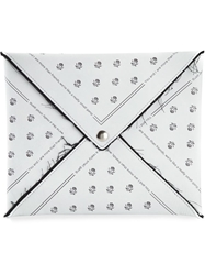 Mm6 By Maison Martin Margiela Printed Envelope Clutch White
