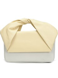 J.W.Anderson J.W. Anderson 'Twist' Handle Clutch Bag Yellow And Orange