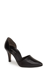 Paul Green 'Char' Leather D'orsay Pump Women Black Leather