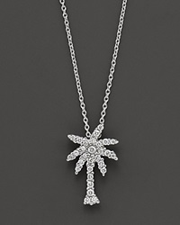 Roberto Coin 18 Kt. White Gold Diamond Palm Tree Necklace No Color