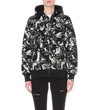 Aape By A Bathing Ape Abstract Print Cotton Blend Hoody Bkw