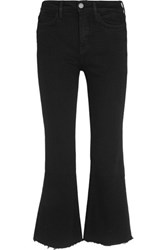 Mih Jeans M.I.H Lou Cropped Mid Rise Flared Black