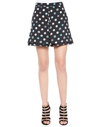 Opening Ceremony Umbrella Print Crepe Knit Skort Black Multi
