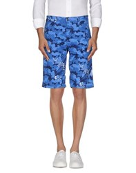 Bikkembergs Trousers Bermuda Shorts Men Blue