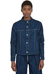 Eckhaus Latta Boxy Denim Jacket Navy