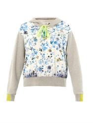 Preen Forget Me Not Hooded Sweatshirt White Multi