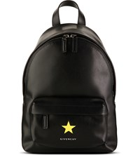 Givenchy Star Leather Backpack Black Yellow