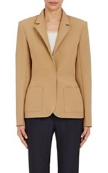 Lanvin Women's Pique Single Snap Sportcoat Tan Size 34 Fr
