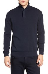 French Connection Men's Quarter Zip Sweater Marine Blue