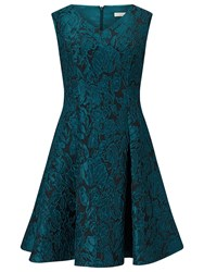 Jacques Vert Petite Jacquard Prom Dress Dark Blue