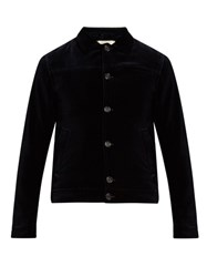 Oliver Spencer Buffalo Cotton Velvet Jacket Navy