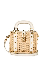 Dolce And Gabbana Dolce Wicker And Leather Box Bag
