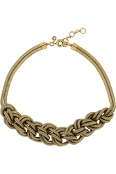 J.Crew Braided Gold Tone Necklace