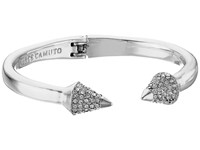Vince Camuto Pave Cone Hinged Cuff Bracelet Light Rhodium Crystal Bracelet Silver