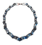 Nak Armstrong Recycled 18K Rose Gold Necklace With Labradorite And White Diamond Multi