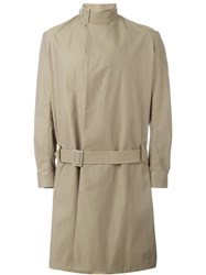 J.W.Anderson J.W. Anderson Belted Collar Trench Coat Nude And Neutrals