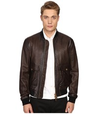 Dsquared Pilot Leather Bomber Brown
