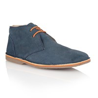 Lotus Wickford Lace Up Casual Desert Boots Navy