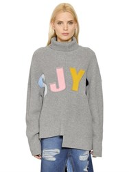 Steve J And Yoni P Sjyp Oversized Asymmetrical Wool Sweater