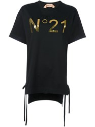 N 21 No21 Logo Print Boyfriend T Shirt Black