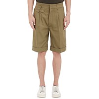 Christophe Lemaire Canvas Oversized Cuffed Shorts Olive