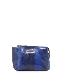 Beirn Large Watersnake Cosmetic Pouch Cobalt