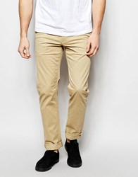 Farah Chino In Slim Fit Stretch Cotton Sand Beige