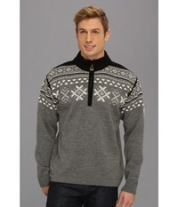 Dale Of Norway Dovre E Smoke Off White Black Men's Sweater