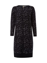 White Stuff Iris Jaquard Dress Blue